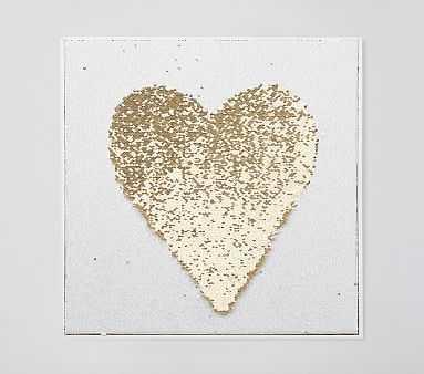 Sequin Heart Art - Pottery Barn Kids