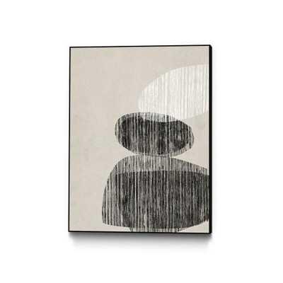 "CLICART 30 in. x 40 in. ""Nested II"" by Jennifer Goldberger Framed Wall Art, Neutral - Home Depot"