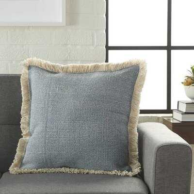 Mika Solid Cotton Throw Pillow - Birch Lane