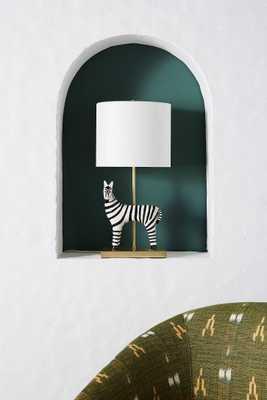 Ceramic Zebra Table Lamp - Anthropologie