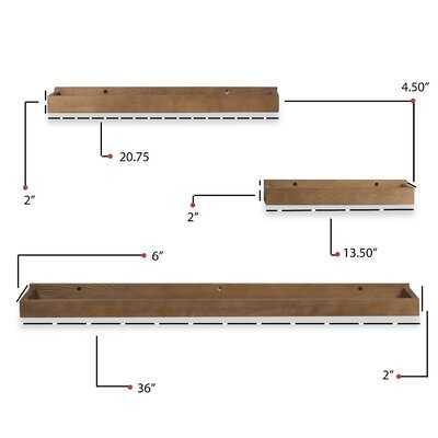 Glisson 3 Piece Wall Shelf Set - Wayfair
