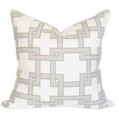 Citysquare Mistymorn - 20x20 pillow cover (square - medium) / pattern on front, solid on back - Arianna Belle