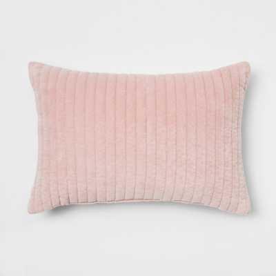 Quilted Velvet Lumbar Throw Pillow Pink - Project 62 - Target