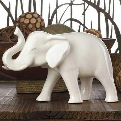 Sleek Ceramic Elephant Figurine - Wayfair