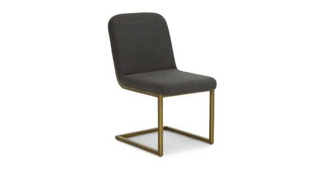 Alchemy Cinder Gray Dining Chair - Article