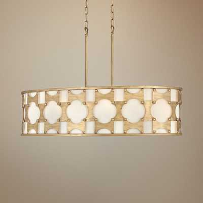 "Hinkley Carter 37"" Wide Burnished Gold Island Pendant Light - Style # 70Y53 - Lamps Plus"