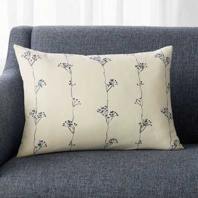 """Eva Botanical Pillow Feather-Down Insert 22""""x15"""" - Crate and Barrel"""