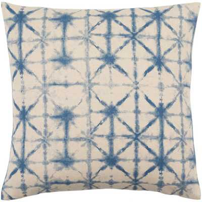 Lacelles Navy Graphic Polyester 22 in. x 22 in. Throw Pillow - Home Depot