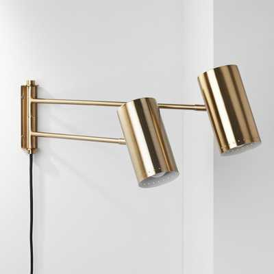 Duo Wall Sconce Brass - CB2