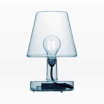 Fatboy Transloetje Rechargeable LED Table Lamp, Blue - West Elm