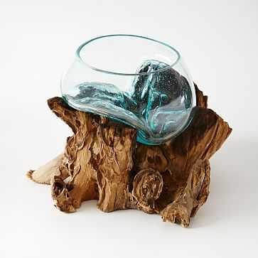 Wood + Glass Terrarium, Large - West Elm