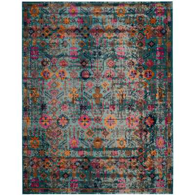 Artisan Light Blue/Multi 9 ft. x 12 ft. Area Rug - Home Depot