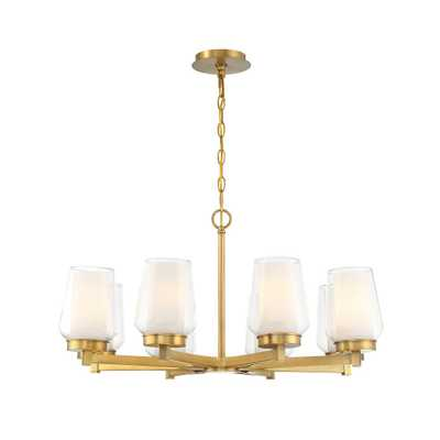 Eurofase Manchester 8-Light Brass Chandelier - Home Depot
