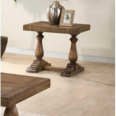 Wood End Table - Wayfair