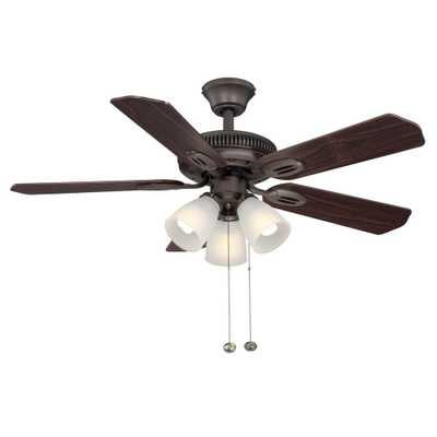 Hampton Bay Glendale 42 in. Indoor Oil-Rubbed Bronze Ceiling Fan with Light Kit - Home Depot