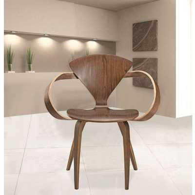 I and L Distributing Wooden Arm Chair, Walnut (Brown) - Home Depot