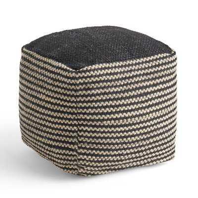 Juin Boho Wool and Cotton Ottoman Pouf - Wayfair