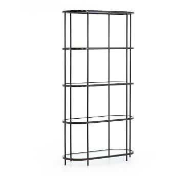 Phillip Bookcase, Rubbed Gunmetal - Pottery Barn