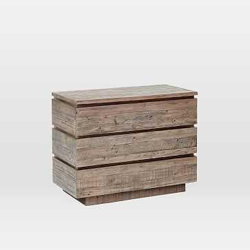 Emmerson(R) Modern Reclaimed Wood 3-Drawer Dresser, Stone Gray - West Elm