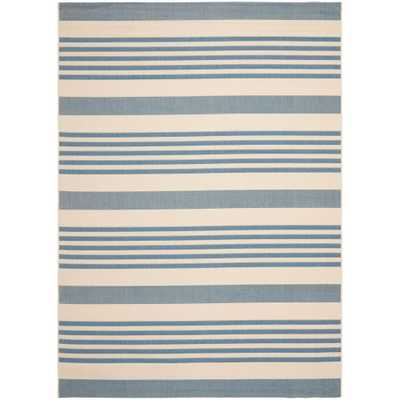 Courtyard Beige/Blue 9 ft. x 12 ft. Indoor/Outdoor Area Rug - Home Depot