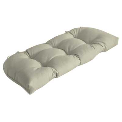 Arden Selections 41.5 in. x 18 in. New Tan Leala Texture Countoured Tufted Outdoor Bench Cushion - Home Depot