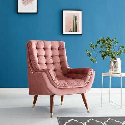 McCaysville Button Tufted Upholstered Velvet Lounge Chair - Wayfair