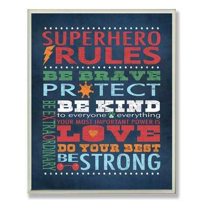 Seth Superhero Rules Wall Plaque - Wayfair