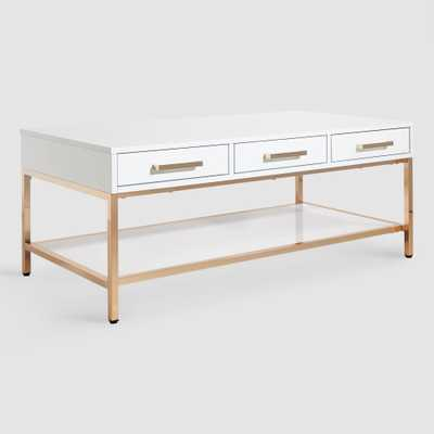 White and Gold Reid Coffee Table with Drawers by World Market - World Market/Cost Plus