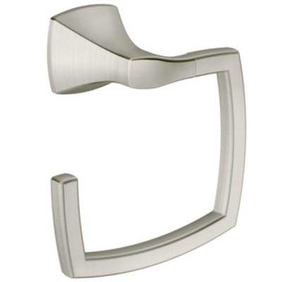 MOEN Voss Towel Ring in Brushed Nickel - Home Depot