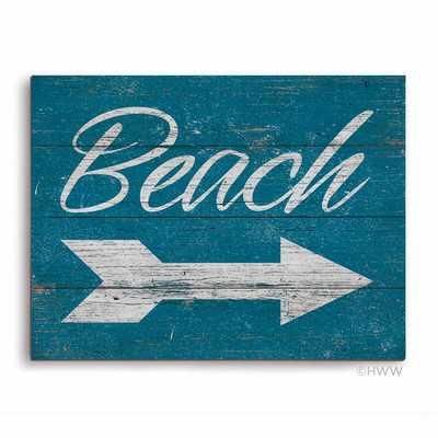 'Beach This Way' Textual Art Plaque - Wayfair