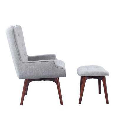 Side Chair and Ottoman - Wayfair