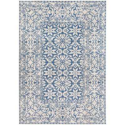 Zait Blue 7 ft. x 10 ft. Indoor Area Rug - Home Depot
