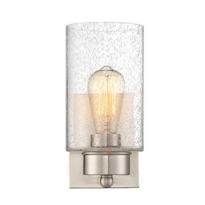 Filament Design 1-Light Brushed Nickel Sconce - Home Depot