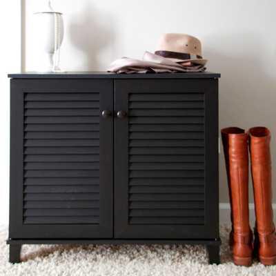Coolidge Wood Shoe Storage Cabinet in Dark Brown, Dark Brown Wood - Home Depot