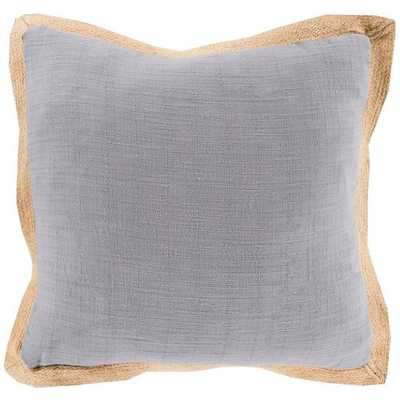 Jute Flange 20x20 Pillow Cover with Down Insert - Neva Home