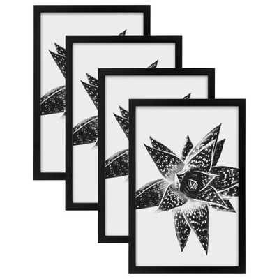Gallery 11x17 Black Picture Frame (Set of 4) - Home Depot