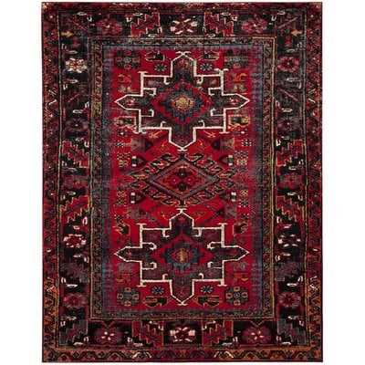 Barrera Red/Black Area Rug - Wayfair