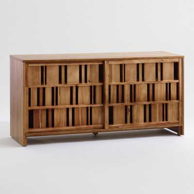 Wood Open Slat Cadwell Media Cabinet by World Market - World Market/Cost Plus