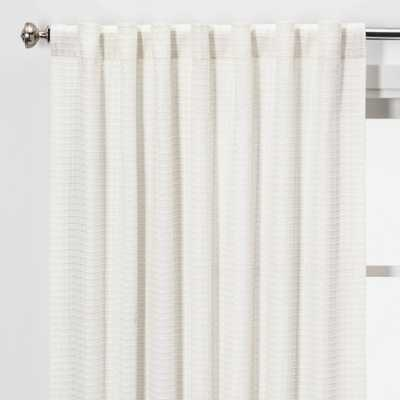 """95""""x54"""" Light Filtering Honeycomb Curtain Panel White Opaque - Threshold - Target"""