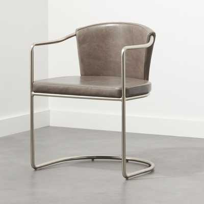 Cleo Grey Cantilever Chair - CB2