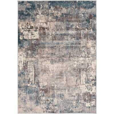 Roy Distressed Gray Abstract Area Rug - Wayfair