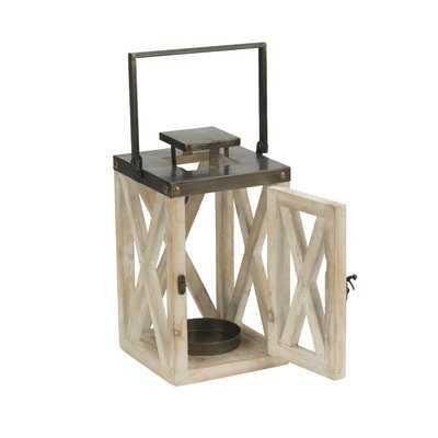 Bearfield 2 Piece Wood Lantern Set - Birch Lane