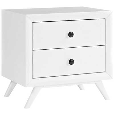 Tracy White Nightstand - Home Depot