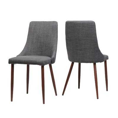 Doolin Mid-Century Upholstered Dining Chair, set of 2 - Wayfair