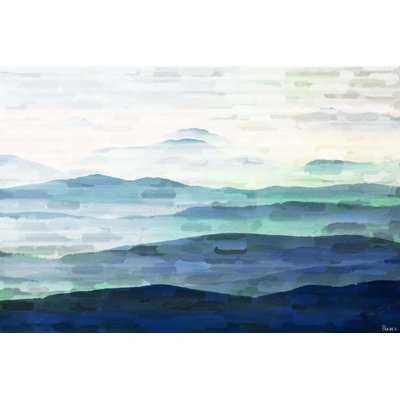 'Mountain Tops' by Parvez Taj - Wrapped Canvas Print on Canvas - AllModern