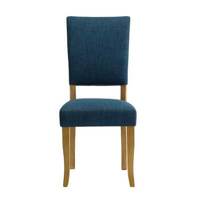 Open-Back Blue Parsons Dining Chair (Set of 2) - Home Depot
