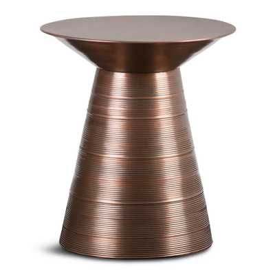 Sheridan Aged Copper Metal Accent Table - Home Depot