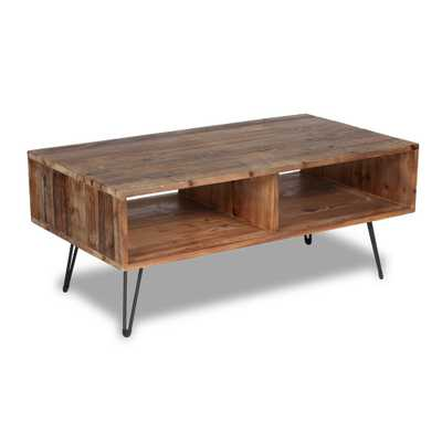 Turner Natural Wood Coffee Table - Home Depot