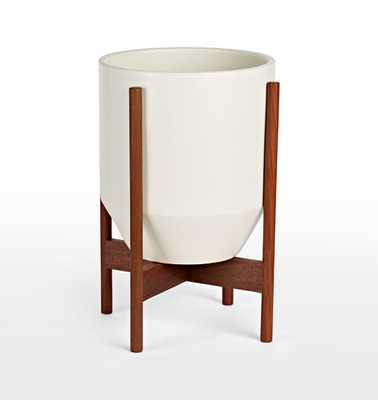 Modernica Case Study® Hex with Walnut Stand - White - Rejuvenation