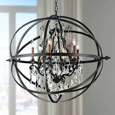 "Byron 33 1/2"" Hand-Worked Bronze And Crystal Chandelier - Style # X5947 - Lamps Plus"